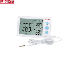 UNI T A12T Digital LCD Thermometer Hygrometer temperature Humidity Meter Alarm Clock Weather Station Indoor Outdoor instrument