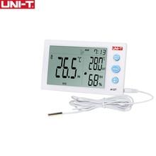 UNI T A12T 디지털 방식으로 LCD 온도계 습도계 온도 습도 미터 자명종 기상 관측소 실내 옥외 계기