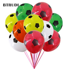 BTRUDI Hot Sale 30/50pcs 12 inch Football printed latex balloon birthday party decorations kids helium balloon children party