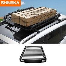 SHINEKA portaequipajes de techo para coche, marco de almacenamiento de carga para Jeep Compass/Renegade/Grand Cherokee/Patriot 2009 2016
