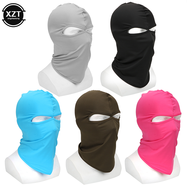Motorcycle Face Mask Soft Breathable Headgear Shield Hood Balaclava Windproof Sun-protection Dust Protection Ski Ridding CS Mask