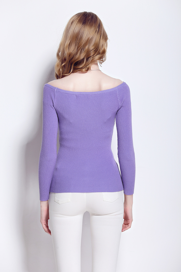 Promoción  Nuevo invierno suéter cuello de la camisa suéter delgado suéter de las señoras suéter de las mujeres del color del caramelo