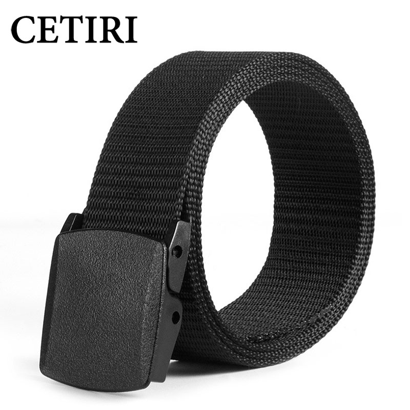 CETIRI 3.7cm 110 120 130 140cm 150cm 160cm Casual Long Big Size Nylon Material Mens   Belt   Military Outdoor Jeans Tactical   Belts