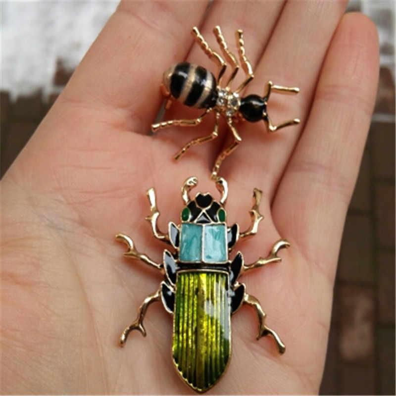 Emalia Pin Beetle broszki dla kobiet mężczyźni dzieci odznaka na plecaku prezenty broszka z owadem biżuteria ceny hurtowe