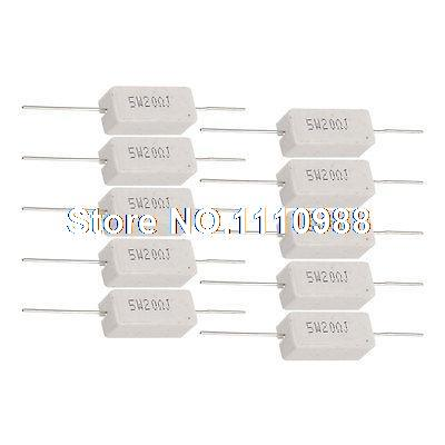 10 Pcs SQP Wirewound Ceramic Cement Power Resistor 10 Ohm 5W new customized fixed type 400w 450 ohm ceramic tube resistor
