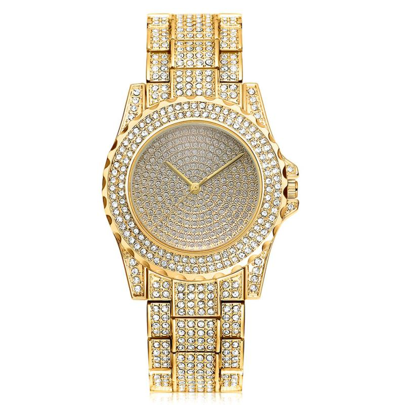 Hip Hop Mens Watches Luxury Date Quartz Wrist Watches With Micropave CZ Stainless Steel Watch For Women Men JewelryHip Hop Mens Watches Luxury Date Quartz Wrist Watches With Micropave CZ Stainless Steel Watch For Women Men Jewelry