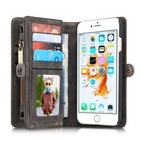 Genuine Real Leather Wallet Case For Apple Iphne 6 6s 7 7Plus Luxury Multi Functional Original