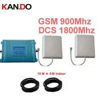 980 модель двухдиапазонный усилитель полные комплекты w/кабель и антенны, GSM 900 мГц + DCS 1800 мГц усилитель мобильный телефон Dual Band Repeater