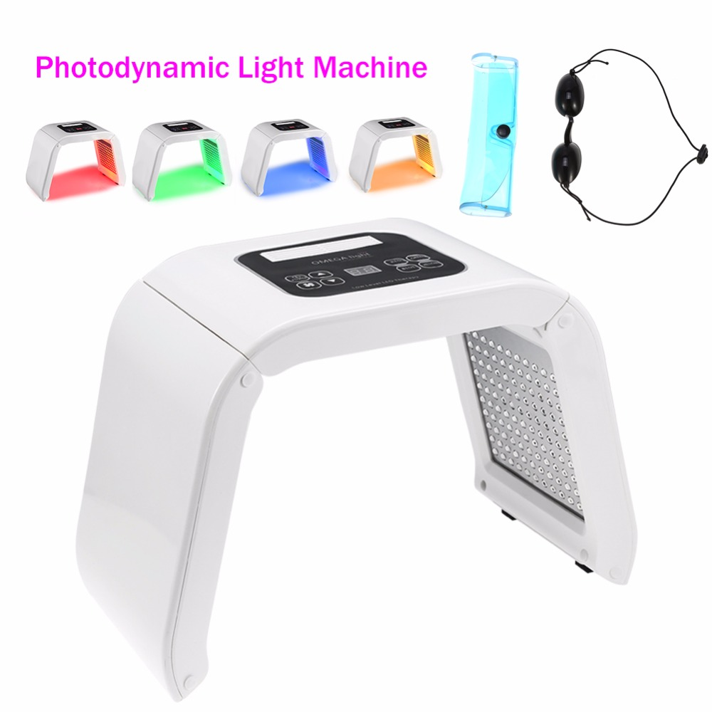 4Color Face Beauty Photodynamic Lamp PDT LED Light Therapy Machine Wrinkle Remove Skin Rejuvenation Spa PDT
