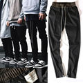 New Chinos Joggers Korean Mens European Urban Clothing Black Kanye West Justin Bieber Harem Dress Zipper Track Pants Fear Of God