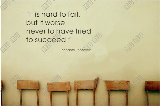 It is Hard to Fail but Worse Never to Have Tried Theodore Roosevelt ...