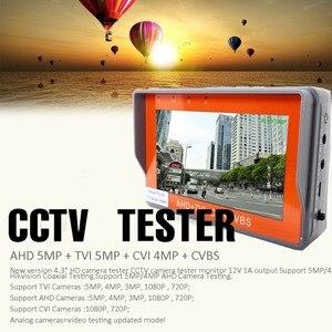 Image 2 - IV7W 4.3inch CCTV AHD TVI CVI CVBS camera tester monitor analog CVBS camera testing UTP cable test 12V1A output free shipping