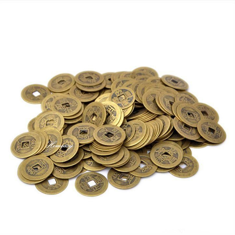 50pcs/lot 20/24/28/38/43mm Chinese Feng Shui Lucky Ching/Ancient Coins Set Educational Ten Emperors Antique Good Fortune Money