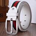 [TG] Venta caliente Nuevo Diseñador de la Marca Patch Work Correa Correas de Los Hombres de Lujo cinturones Correa de La Cintura Masculina Pin Hebilla de Cinturón de Cuero de Imitación para Las Mujeres