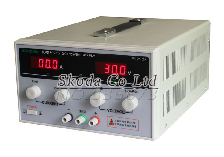 Switching power supply, 30V20A 110V/220V Input  KPS-3020D Adjustable precision Digital Switching DC power supply, Free shipping cps 6011 60v 11a digital adjustable dc power supply laboratory power supply cps6011
