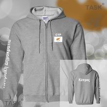 Cyprus Cypriot mens hoodies and sweatshirt casual polo sweat suit streetwear tracksuit nations fleece zipper Cumhuriyeti CYP CY