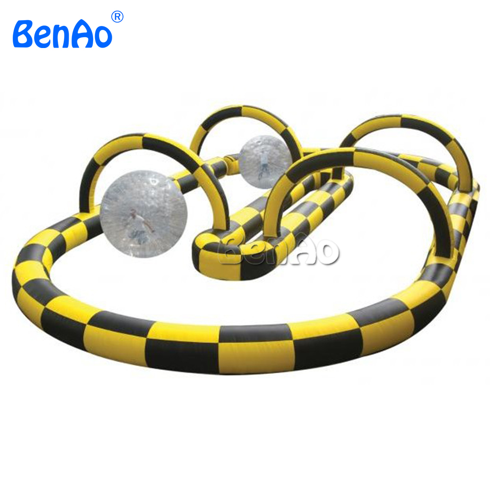 S002 BENAO  0.55mm PVC 1000D Durable inflatable ball zorb ball racing track, zorbing track, zorb ball air track for sport games inflatable zorb ball race track pvc go kart racing track for sporting party