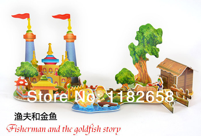 Fisherman story Puzzles DIY 3D Jigsaw Puzzle For C...