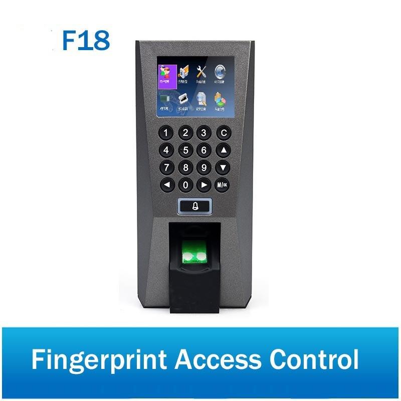 TCP/IP 125 Khz RIFD Carte Contrôle D'accès Biométrique D'empreintes Digitales Temps de Présence Terminal Avec ZK F18 système de garde D'entrée