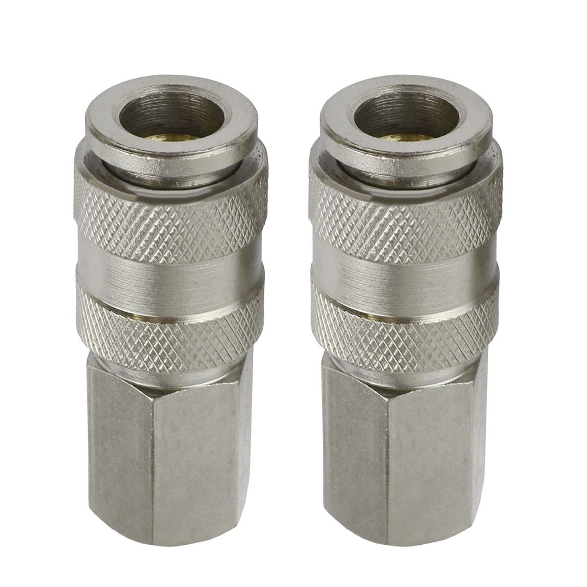 2pcs Euro Female Quick Release Fittings with 1/4 BSP Female Thread Air Line Hose Connectors empty inline water filter housing 12 x 2 5 refillable in line cartridge with 2pcs 1 4 quick connect fittings