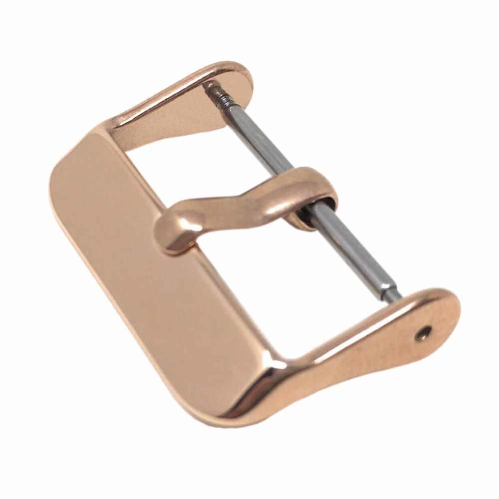 Bemorcabo 16mm 18mm 20mm 22mm 24mm Substituição Faixa de Relógio de Fivela de Aço Inoxidável Polido com Mola bar Rosa de Ouro Preto Prata