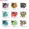2016 new fashion SS6(1.9-2.0mm)1440pcs/pack 3D decorations crystal rhinestone glue on flatback foild non-hotfix nail rhinestone