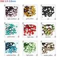 2016 nueva moda SS6 (1.9-2.0mm) 1440 unids/pack decoraciones 3D crystal rhinestone glue flatback foild no hotfix del clavo del rhinestone