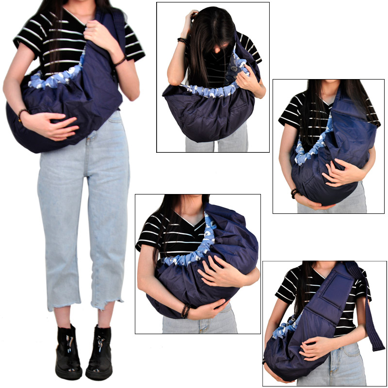 Gazdaságos Baby Carrier elülső szemben álló szerves pamut Stretch Sling hátizsák csecsemő oldalsó csomagolás kosár babaápoláshoz 1db 5 szín