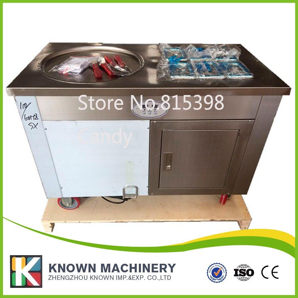 1.2KW 48 см большой холодной сковородка для жарки Мороженое рулонной машины, жареные мороженое roll машины 110 В 220 В