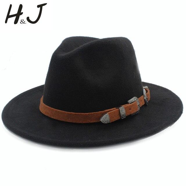 bdd0dcc5be2fb Lana moda mujeres hombres Fedora sombrero para el caballero elegante señora  Otoño Invierno BRIM Jazz Iglesia