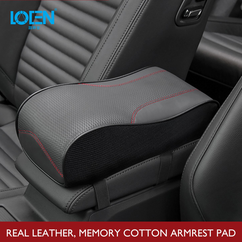 Arm-Rest-Pad Cushion-Armrest-Cover Memory-Foam Auto-Accessories Universal Genuine-Leather