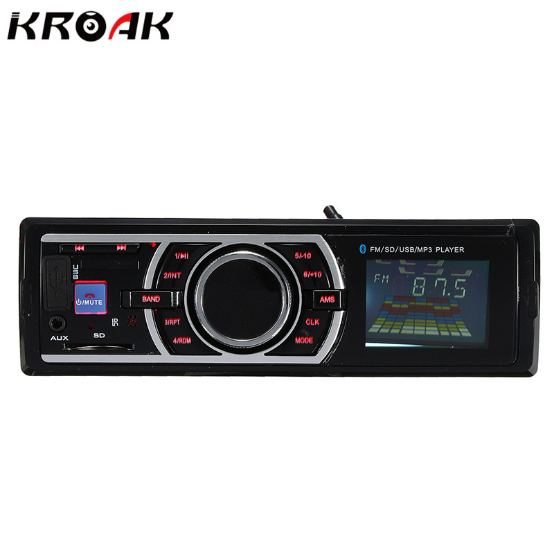 12V Car Stereo Radio Bluetooth MP3 Audio Player Support Bluetooth Phone USB SD AUX IN FM