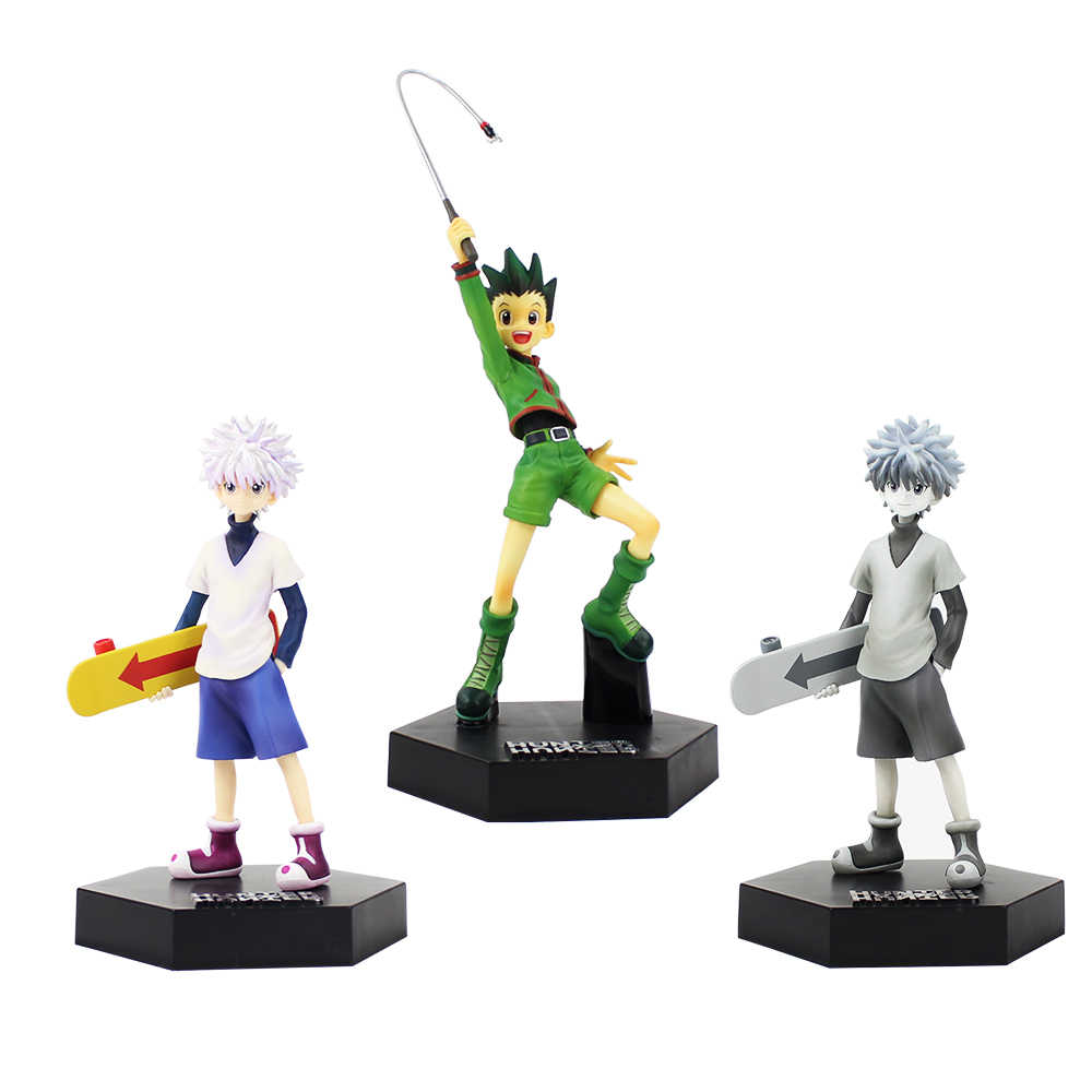 21 arten 21 21cm Anime Hunter X Hunter Figur Spielzeug Gon Freecss Killua  Zoldyck PVC Action Figure Modell sammeln Spielzeug