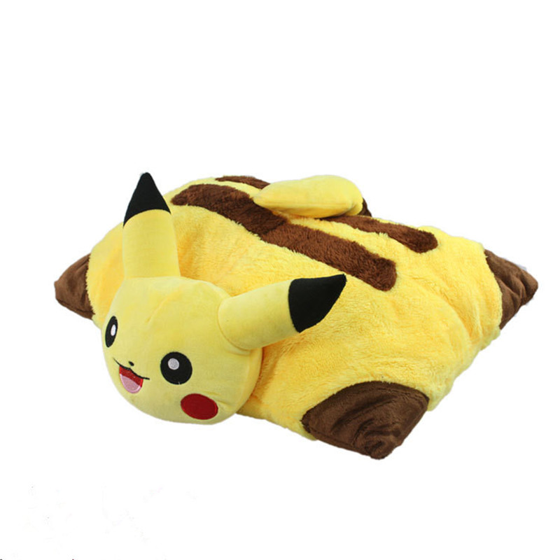 Kawaii Pikachu Plush Toys 40cm Pikachu Plush Pillow Sleep Cushion Soft Stuffed Animal Doll Kids Toys Birthday Gift 160cm cute pink fox plush toys sleep pillow stuffed cushion fox doll birthday gift for children animal stuffed toy