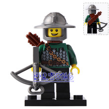 DR.TONG 20pcs/lot XH520 Dragon Knight with Bow Bricks Super Hero Medieval Castle Knights Rome Building Blocks Toys Children Gift