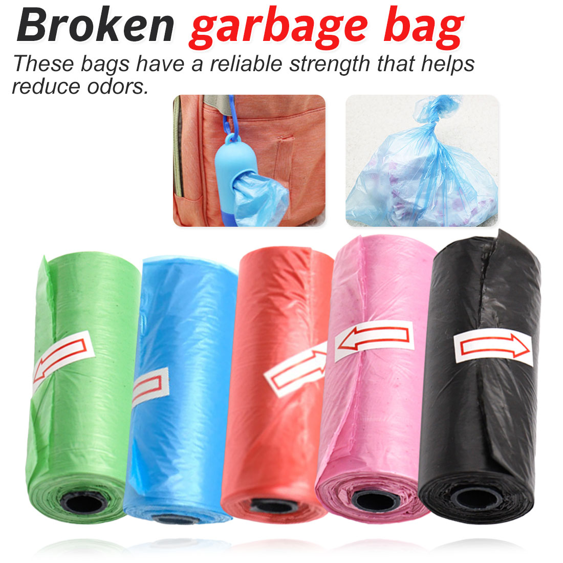 1 Roll Portable Baby Diapers Abandon Bag Roll Home Outdoor Disposable Plastic Pouches Garbage Bag Baby Stroller Accessories