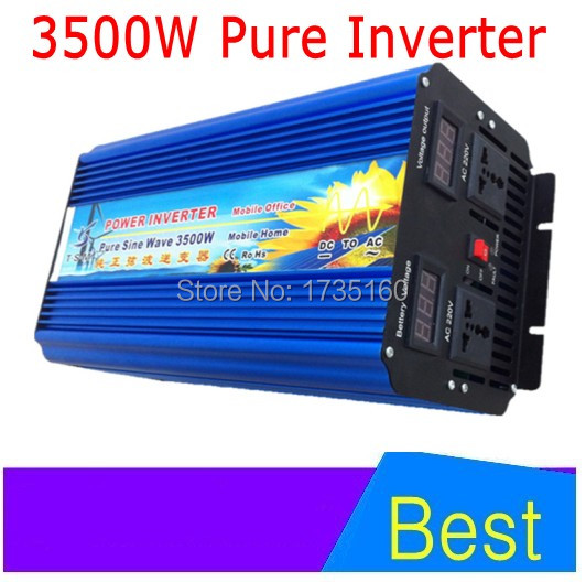 DHL FedEx free shipping 3500W dc ac power inverter pure sine wave 3500W voltage converter for solar home system