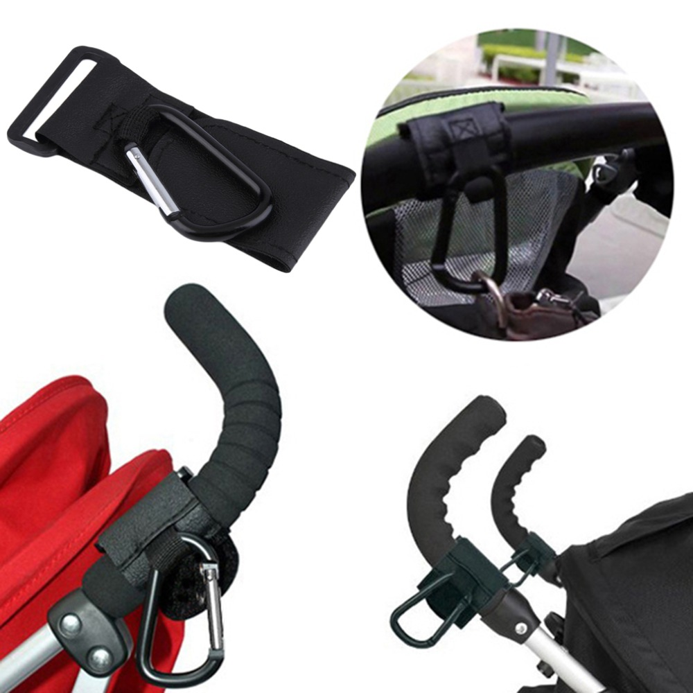 1Pc Baby Pushchair Pram Stroller Buggy Hanger Trolley Carabiner Clip Rotatable Hook Pushchair Hanging Carrier Holder