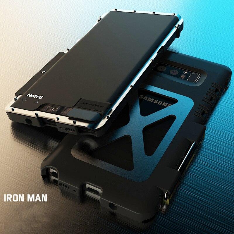 Armor King Aço Inoxidável do Metal Do Caso Da Aleta Para Samsung Galaxy Nota 8 S7 Borda S6 S9 Plus Capa À Prova de Choque Para s10 5G S8 Nota 10 5