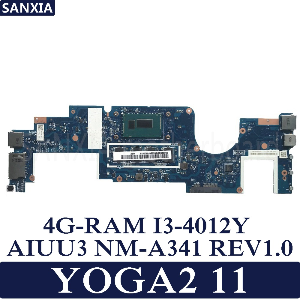 KEFU AIUU3 NM-A341 REV1.0 Laptop motherboard for Lenovo YOGA2 11 YOGA Test original mainboard 4G-RAM I3-4012YKEFU AIUU3 NM-A341 REV1.0 Laptop motherboard for Lenovo YOGA2 11 YOGA Test original mainboard 4G-RAM I3-4012Y