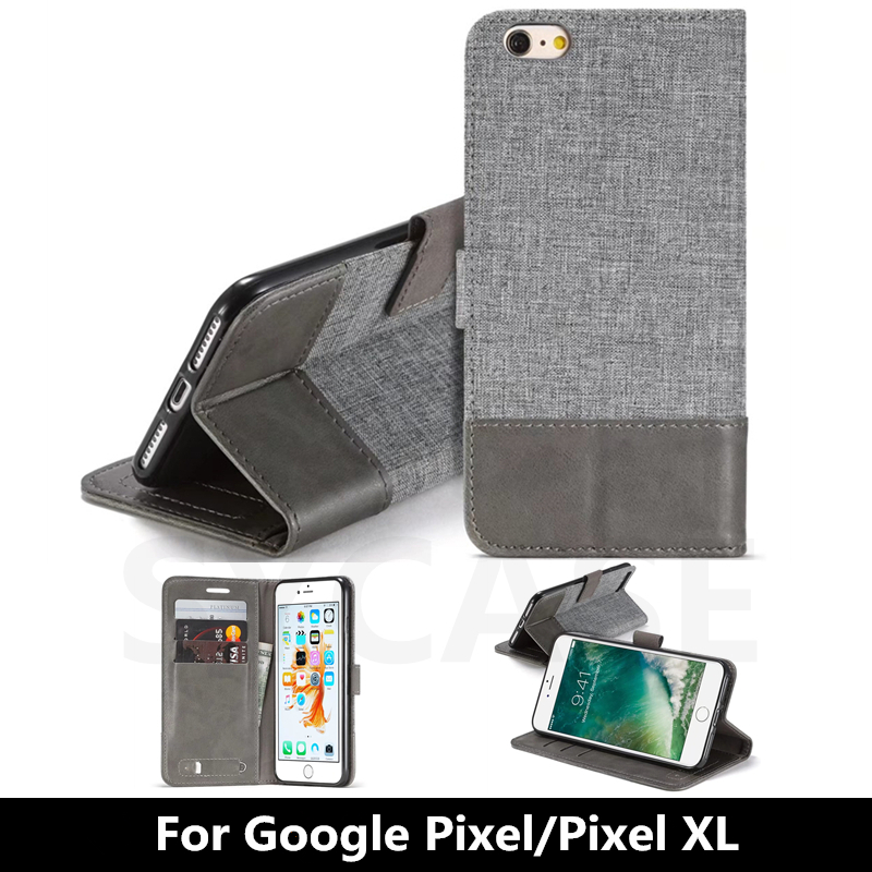 For Google Pixel XL Luxury Wallet PU Flip Leather Cell Phone Cover Case For Google Pixel Funda Shell Back Cover With Card Holder
