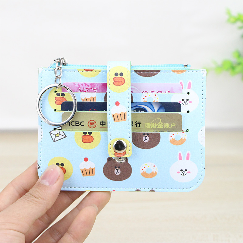 Katuner New Fashion Cartoon Cardholder 6Bits Cute Card Holder Women Men Mini Wallet For Credit Cards Students Coin Purse KB034 katuner new cute cartoon fruit ice sucker kids coin purse for girls wallet children women card holder porte monnaie kb032