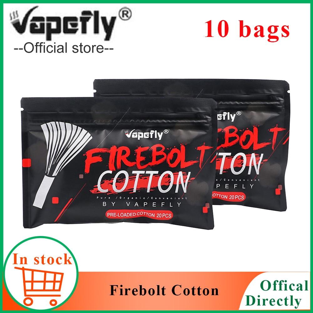 NEW Electronic cigarette Cotton Vapefly Firebolt Cotton Vape Cotton for RDA RTA Coil Wick vaporizer Pre loaded organic CottonElectronic Cigarette Accessories   -