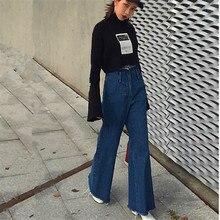 Урожай с низкой талией эластичный flare джинсы женские ретро стиль белл дном Skinny Джинсы Женские Темно-Синий Широкую Ногу Джинсовые Брюки L
