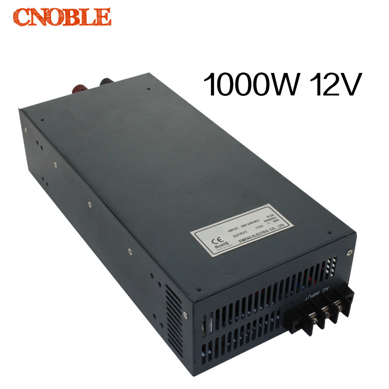 1000W 12V 80A 110V input Single Output Switching power supply for LED Strip light AC to DC 1200w 48v adjustable 220v input single output switching power supply for led strip light ac to dc