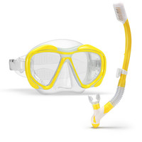 1Set Professional Scuba Diving Mask With Dry Snorkel Snorkel Anti fog Swimming Goggles Wide Vision Underwater Sports Swim Eyewer