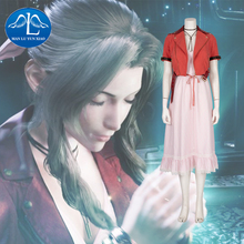 Final Fantasy VII Aerith Cosplay Gainsborough Costume Customize Outfit Party Halloween Womens Girl Game Cospaly