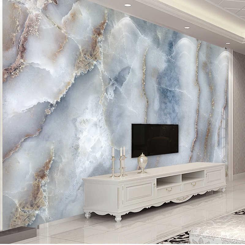 Custom ใดๆขนาดบทคัดย่อหินอ่อนหินผนังผ้าห้องนั่งเล่นโซฟาทีวีพื้นหลังกำแพงตกแต่งกระดาษกันน้ำภาพจิตรกรรมฝาผนัง