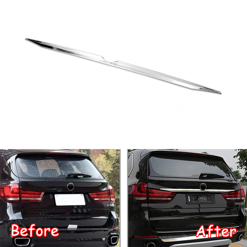 Stainless Steel Car Rear Logo Decoration Strips Car Cover Trim For BMW X5 F15 2014-2017 Car Exterior Styling AccessoriesStainless Steel Car Rear Logo Decoration Strips Car Cover Trim For BMW X5 F15 2014-2017 Car Exterior Styling Accessories