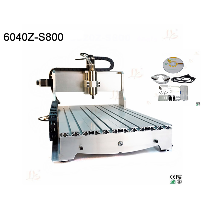 6040 cnc machine with 0.8KW VFD water cooling spindle work area 600X400X80mm Ball screw 3d cutting machine mach3 cnc milling machine 6040 4axis wood router with 800w water cooling spindle ball screw rotary axis